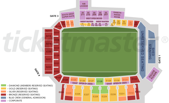 Nib Stadium Seating Plan 2013 Western Force